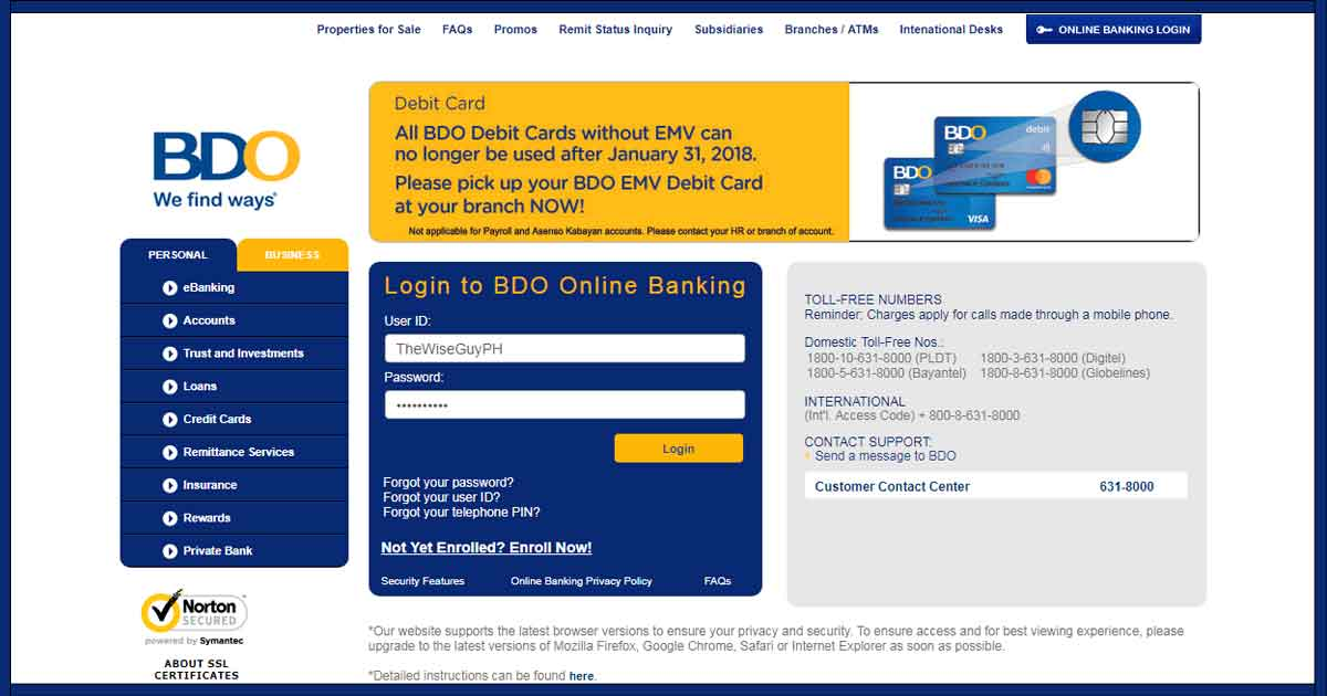 How to Pay Sun Life Insurance Plan via BDO Online 01