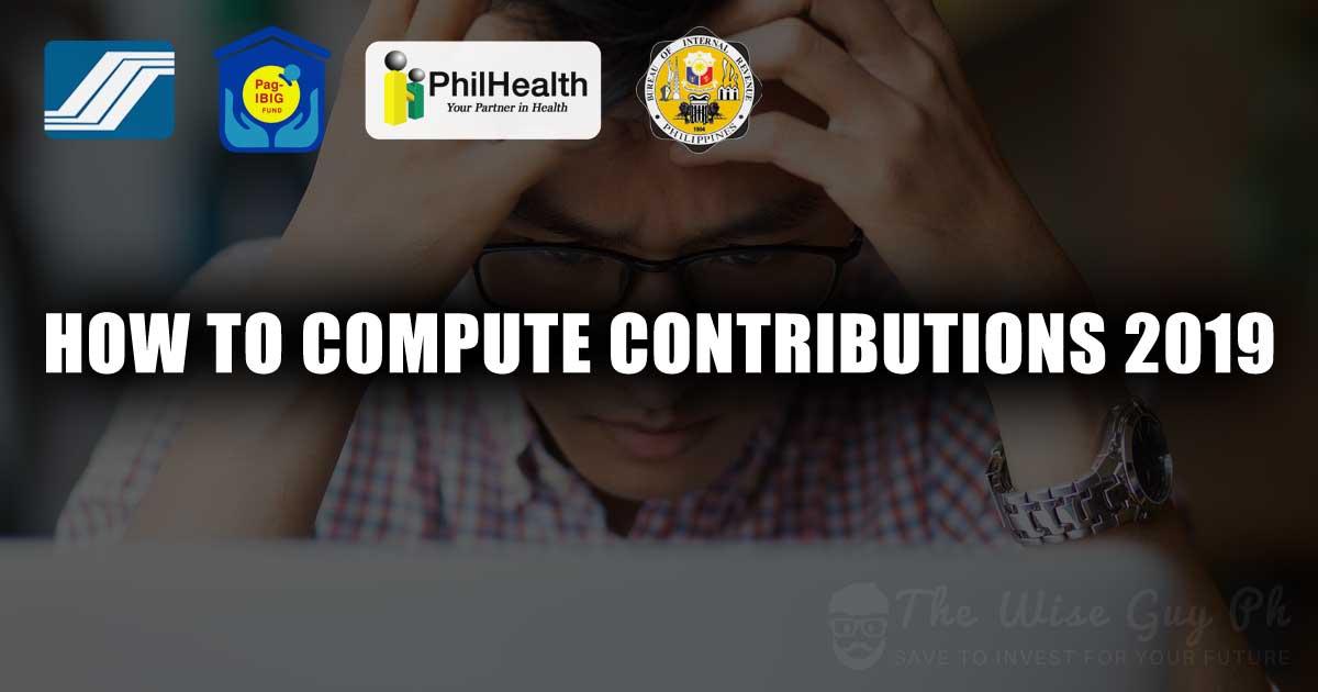 compute sss contribution pagibig philhealth bir tax
