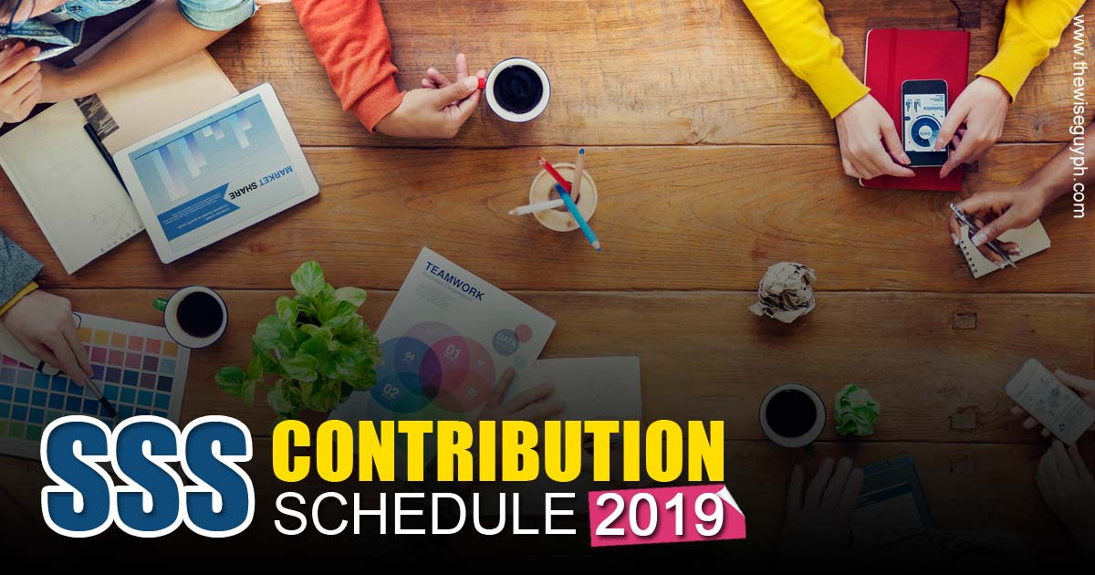SSS Contribution Schedule 2019