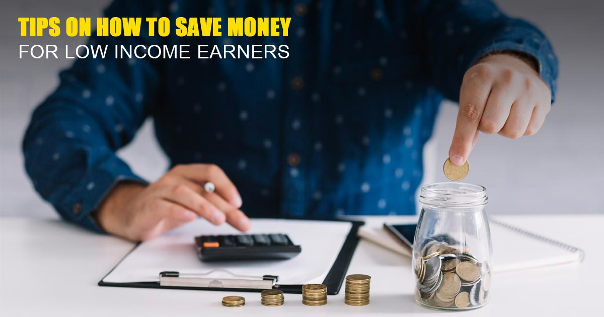 how to save money for low income earners