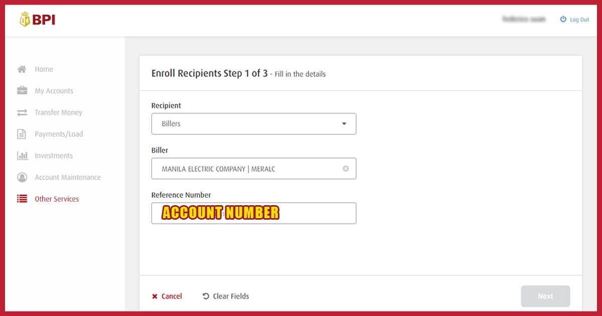 How to Enroll a Meralco Bill in BPI via Online Banking